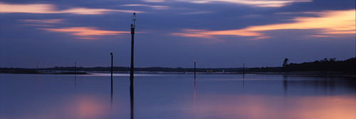 Panoramic Images of the New Forest : Waymarkers in Beaulieu River-mouth
