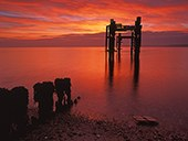 """The Dolphins"" and Groyne at Sunrise 