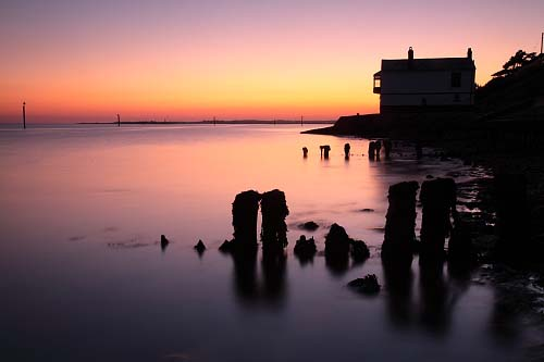 Coast : Groynes by The Watch House at Lepe