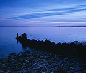 Weathered Groyne at Dusk 